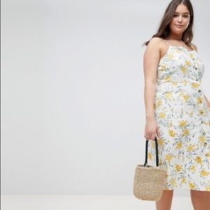 ASOS Linen midi dress